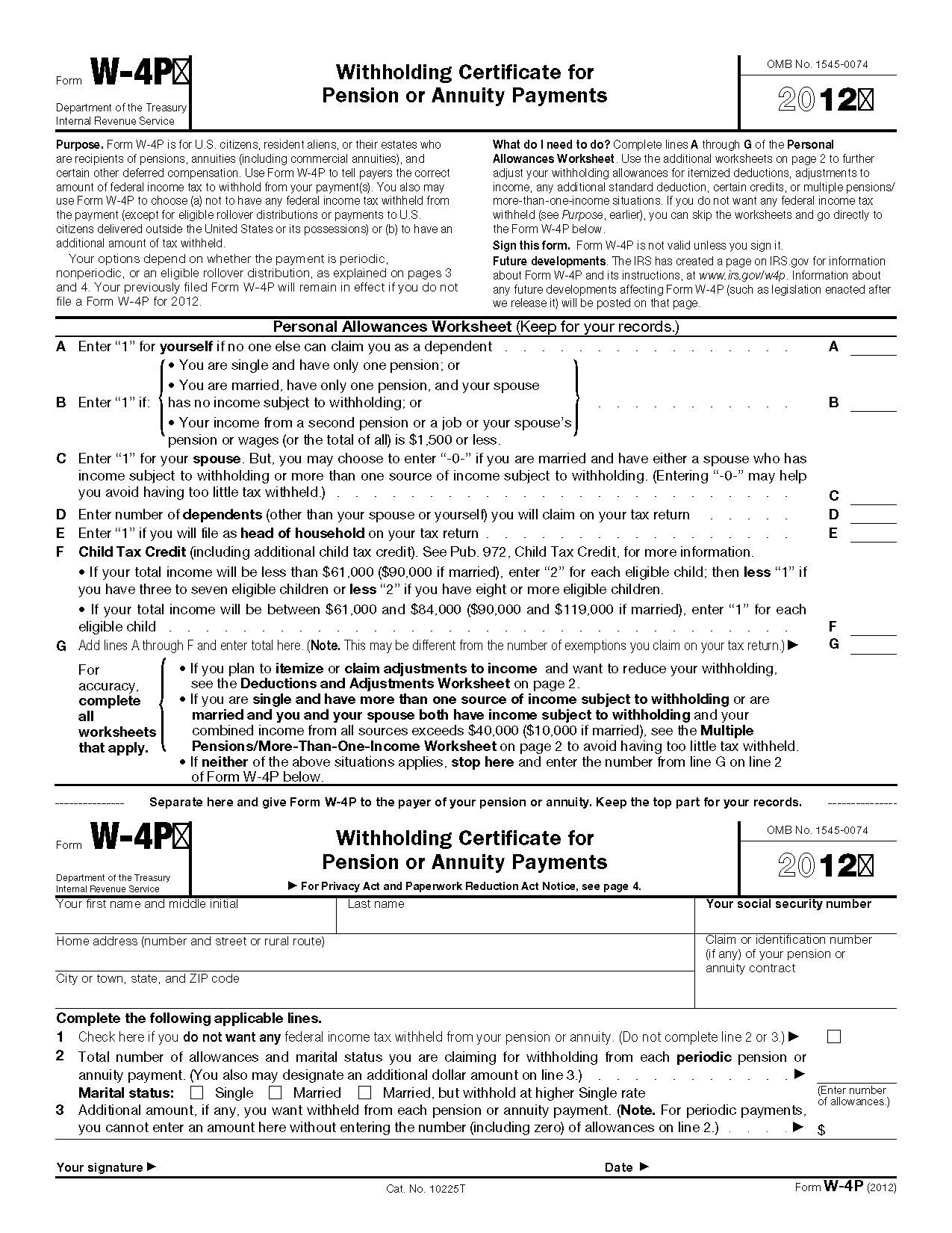 W4 Form 2018 Printable Ezzy