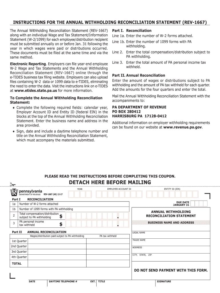 2017 2021 Form PA REV 1667 R Fill Online Printable