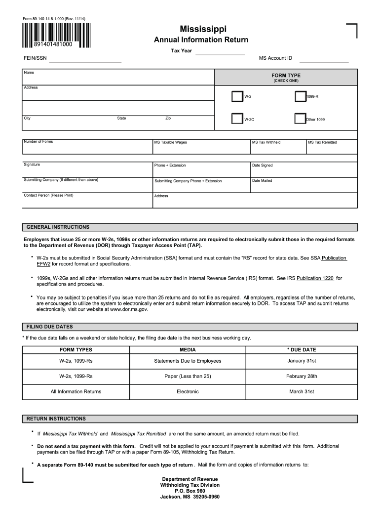 Mississippi State Withholding Form 2021