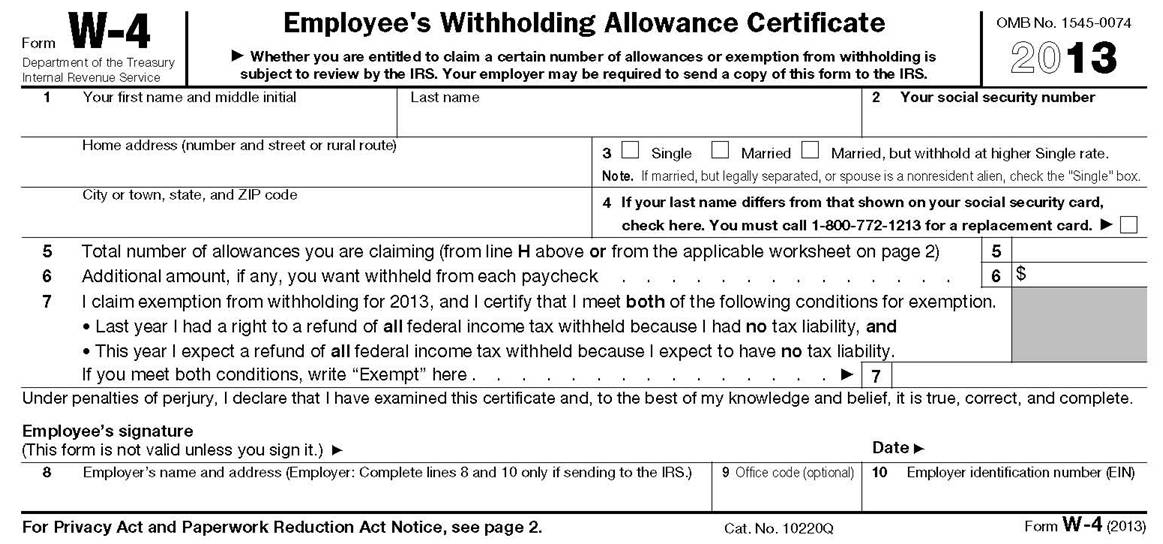 Adjust Your Payroll Withholding With Form W 4 Accounting