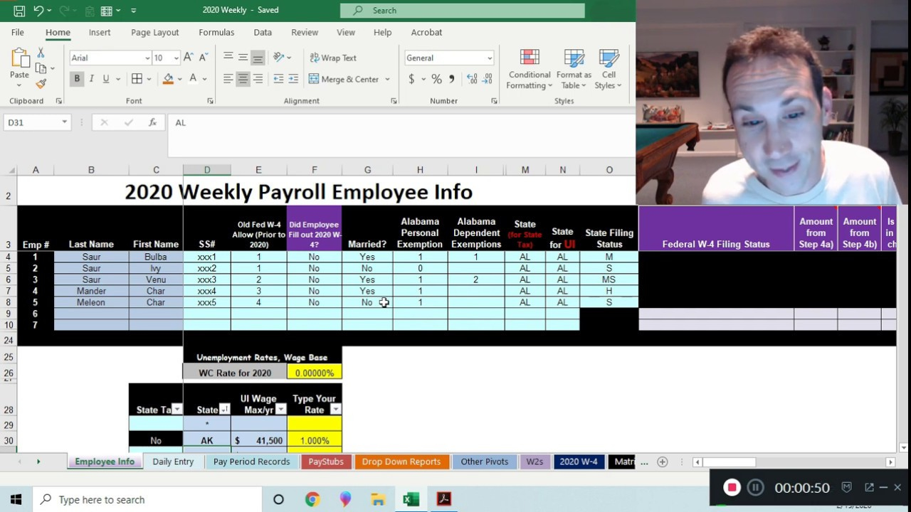 Alabama Payroll Tax Withholding Table
