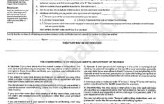 Form M 4 Massachusetts Employee S Withholding Exemption
