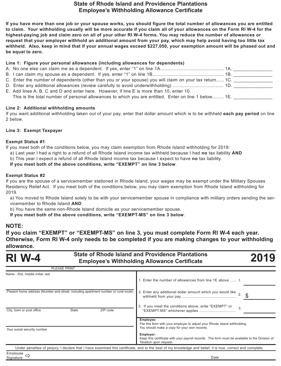 Form W 4 Download Printable PDF Or Fill Online Employee s