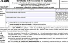 Form W4 Spanish 2021 IRS Forms Zrivo