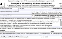 Free Printable W 4 Forms W4 2020 Form Printable