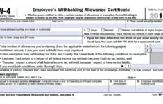 Il State W 4 Form W4 2020 Form Printable