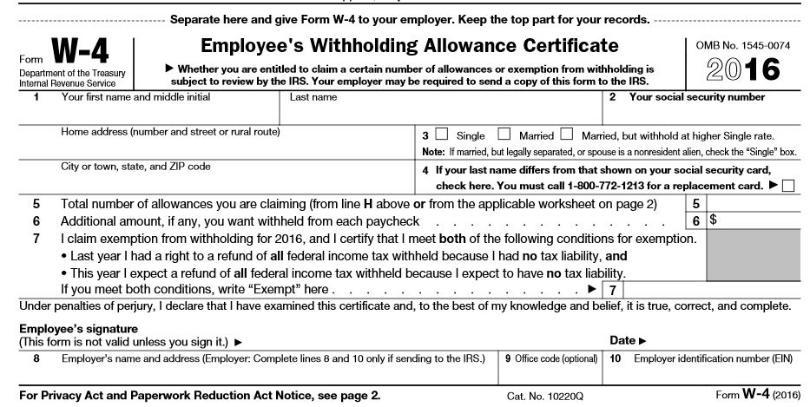 Mississippi Tax Form W 4