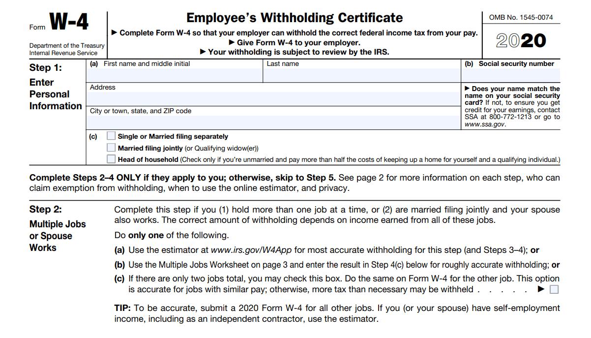 Wisconsin 2021 W-4 Form Printable