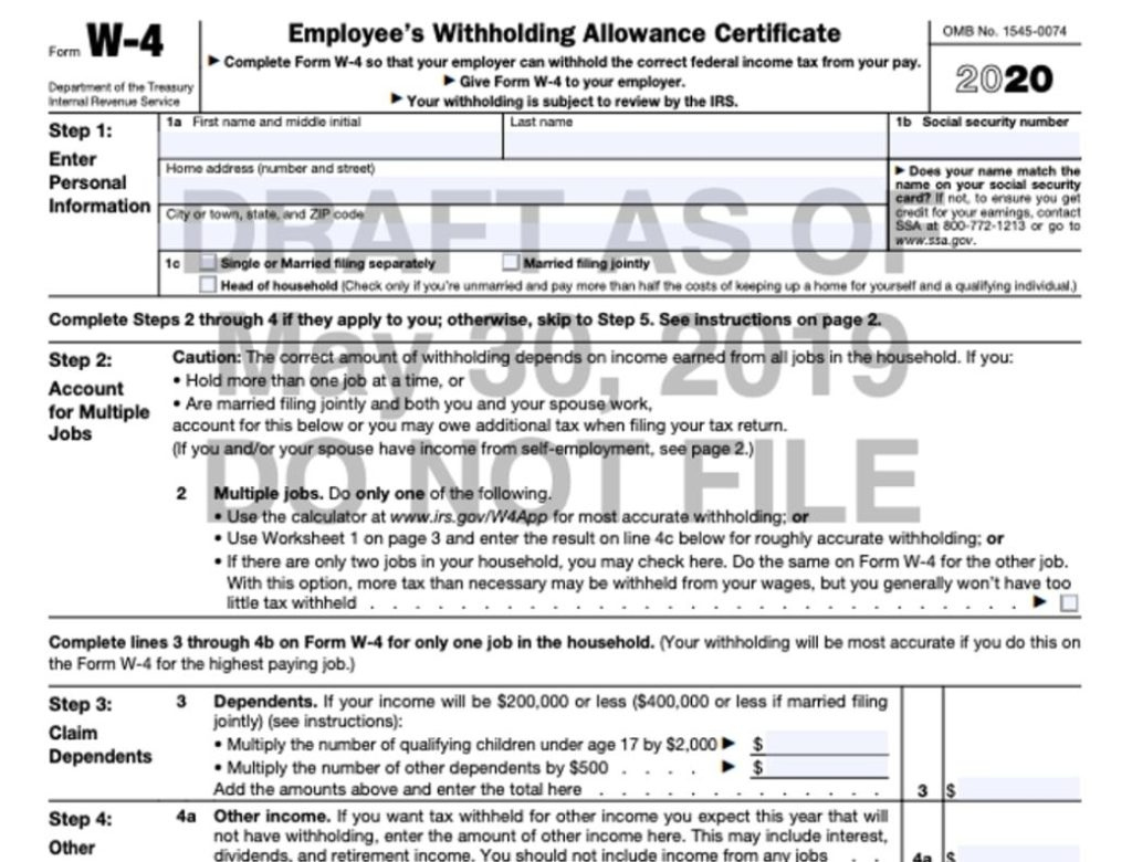 State W4 Forms 2021 Printable