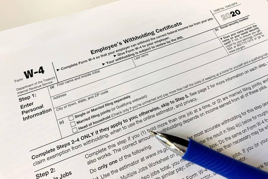 Maryland W 4 Form 2021 Printable