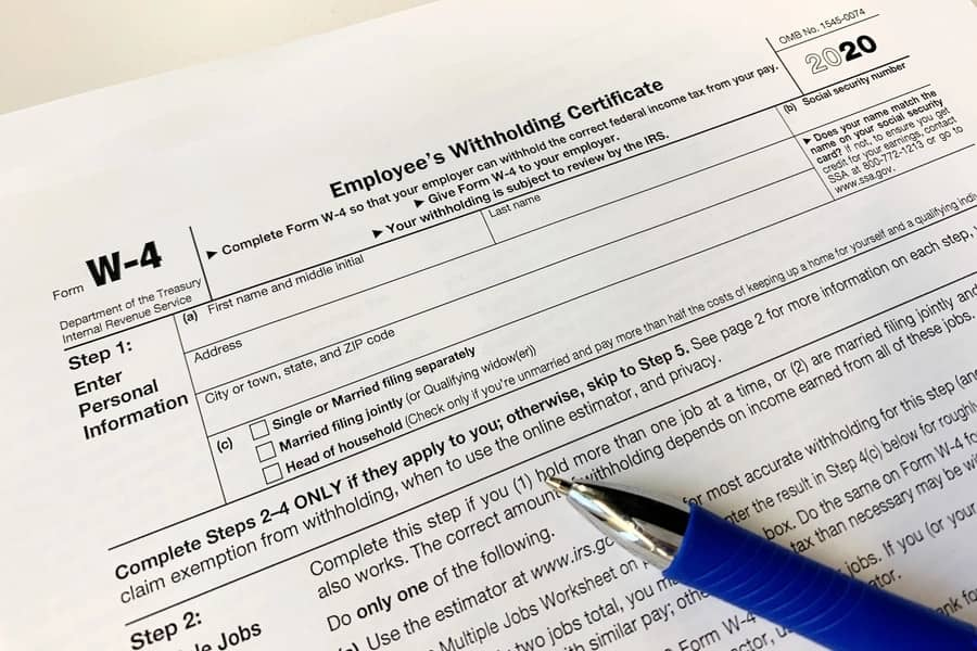 W 4 Form 2021 Printable PDF