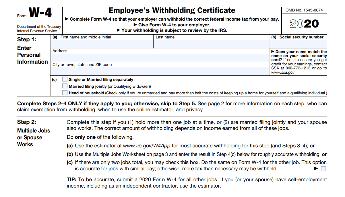Wisconsin W-4 Tax Forms 2021