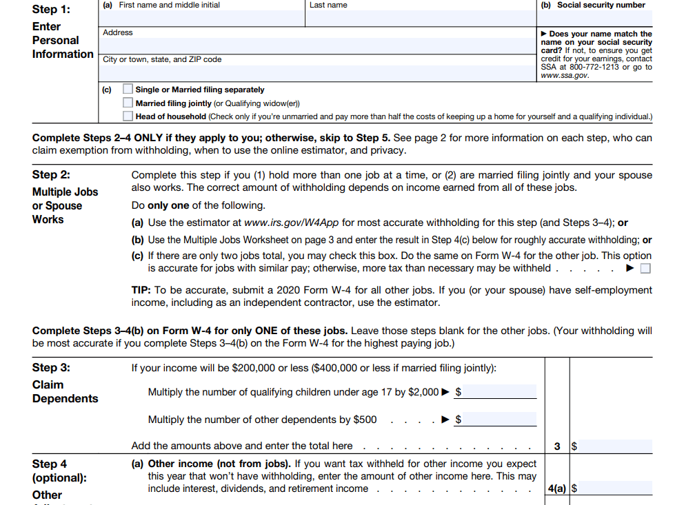 Free Illinois W-4 Form 2021 Form 2021 Printable