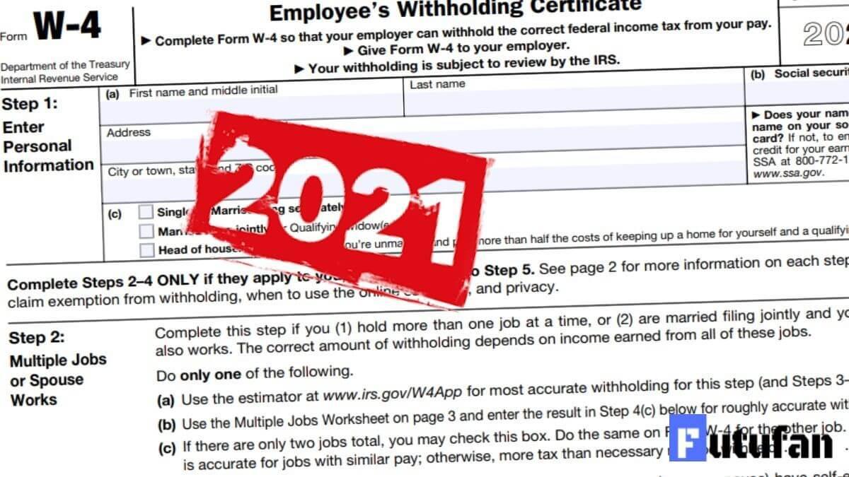 W4 Form 2021 W 4 Forms
