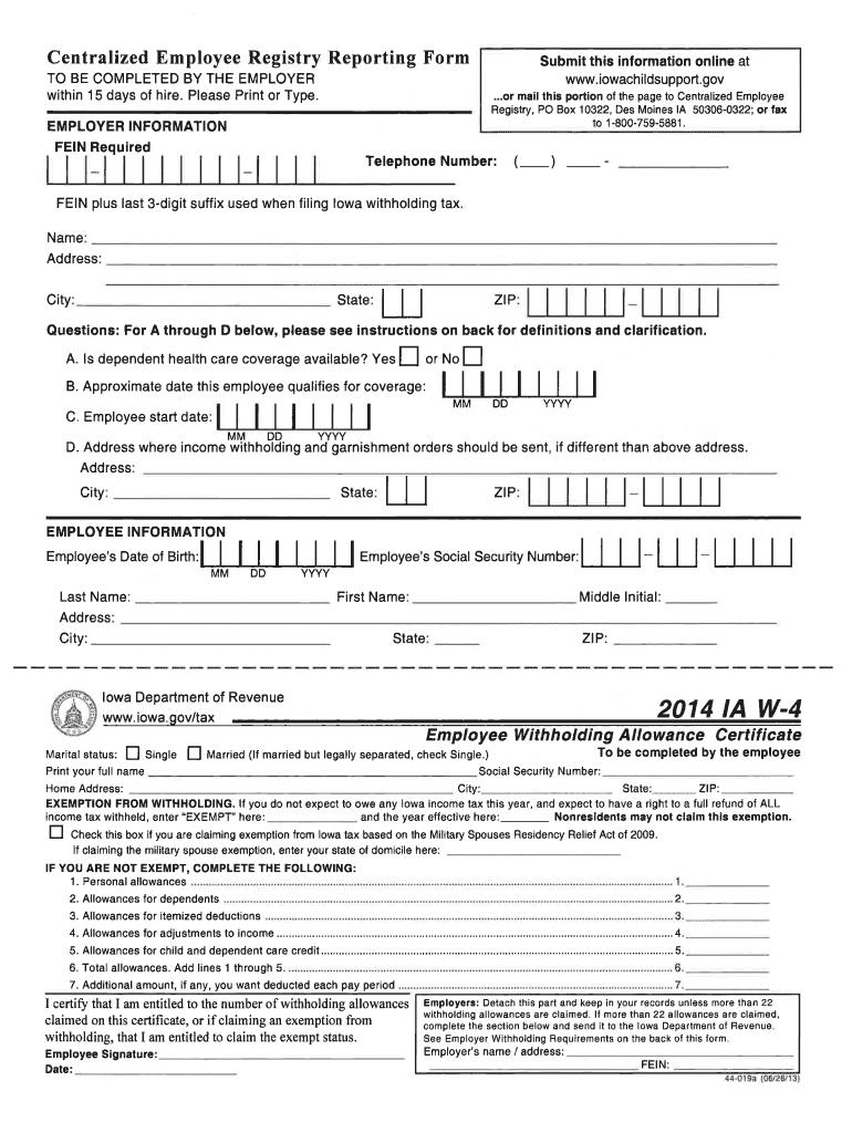 Iowa Withholding Form 2021