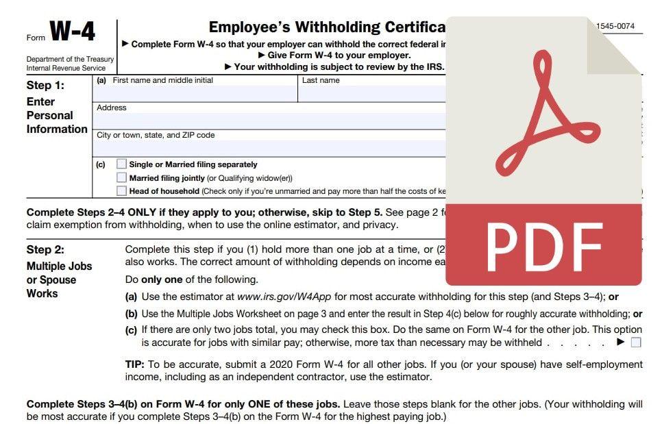 W4 Form PDF