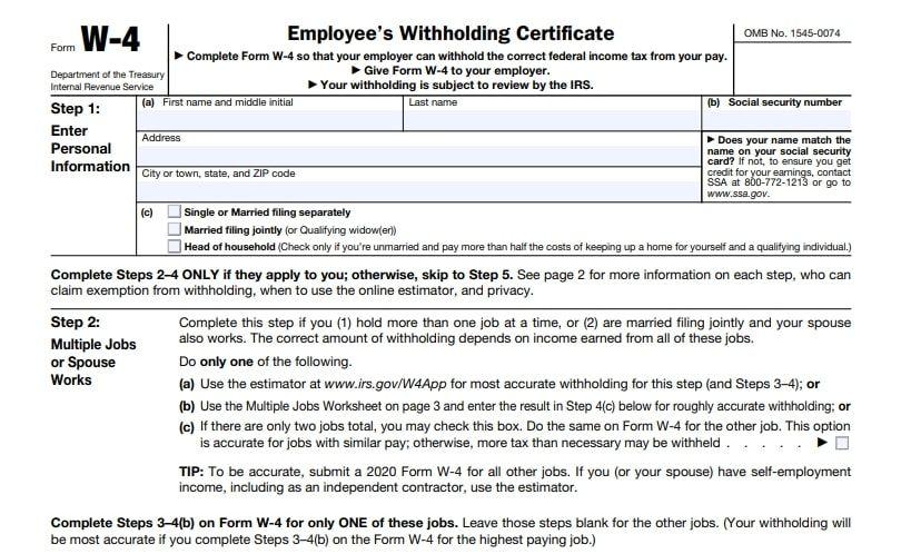 Printable W 4 Forms 2021 Alabama